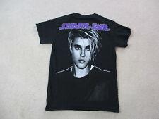 Justin Bieber Concert Shirt Adult Small Black Purple Stadium Tour R&B Pop Mens *