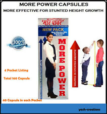 4 Pack More Power 100% Herbal Capsule Most Effective for Height Increase(Unisex)
