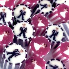1kg Bride & Groom MIX Rock Candy Wedding Favours Bulk Vegan Lollies