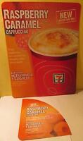 "7 Eleven Raspberry Caramel Cappuccino 2011 Store Ad Poster 13.75"" x 10.375"""