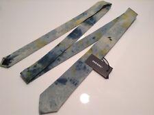 BNWT 100% Auth Diesel, Designer DENIM Blue & Green Slim Tie with Logo. RRP £85