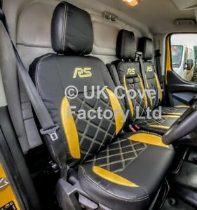 VAN SEAT COVERS FOR  FORD TRANSIT CUSTOM YELLOW BENTLEY  A27RS