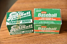 1987 Fleer Update and Topps Traded (8) Complete sets