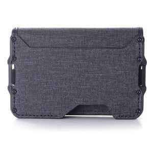 D03 Dapper Bifold EDC Wallet New Slim Minimalist Metal wallet Rfid Blocking