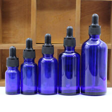 50ML Blue Glass Bottles Eye Dropper For Essential Oil Aromatherapy 1PC Pr kknn