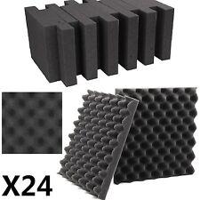 Pack 24 Sheets Tiles Acoustic Foam Treatment Sound Proofing Egg Profile Studio