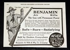 1918 OLD MAGAZINE PRINT AD, BENJAMIN AIR RIFLE, THE GUN WITH PERMANENT POWER!