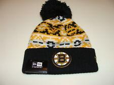 Boston Bruins Cap Hat NHL Hockey New Era Beanie Toque Retro Chill Knit OSFM