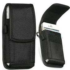 Universal Nylon Belt Pouch with Hook and Belt Loop for Mobile Phones