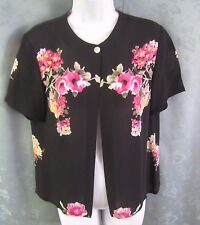 Vintage Casual Corner Overblouse Size 6 Floral Print Silk Sheer Romantic Top