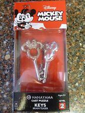 Disney Mickey and Minnie Keys Cast Puzzle Ages 8+ BePuzzled New Sealed Hanayama