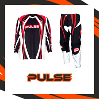 PULSE MOTOCROSS MX ENDURO BMX MTB KIT - TSUNAMI DARK ORANGE & BLACK KIT