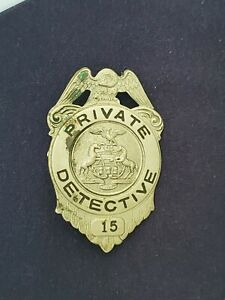 Vintage obsolete 1920s Pennsylvania Private Detective badge not police