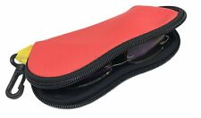 Red Floating Neoprene Sunglasses Case with Hook