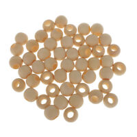 50pcs 22mm Natural Round Wooden Beads Jewelry Making Kids Creative DIY Craft