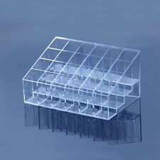 Clear 24 Trapezoid Makeup Display Lipstick Stand Cosmetic Organizer Holder US