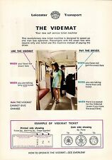 Info Leaflet ~ Videmat Self Service Ticket Machine - Leicester Transport - 1971