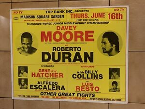 Rare 1983 Roberto Duran Vs. Davey Moore On-site Boxing Poster MSG Clean Shape