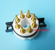 10PCS CHASSIS MOUNT 9pin Valve Vakuumröhrchen Tube socket for EL504 EL519 EL502