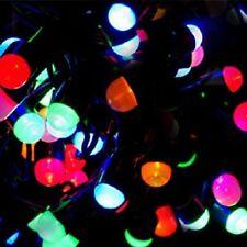 Maxi LED Lichterkette 8mm 100er bunt-grün 10m aussen BA11775