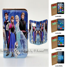 For Nokia Series - Disney Frozen Print Flip Case Wallet MobilePhone Cover