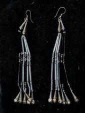 Real Native American, Western style, unique hand made beaded & Silver earrings