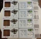 4 SYMA X26 RC Quadcopter Drone boxes, remotes, spare parts, propellers, chargers
