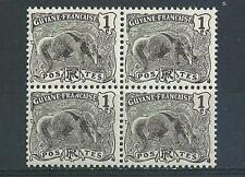 French Guaina 1905 Sc# 51 Greate Anteater Guyane block 4 MNH