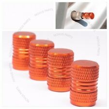 For Bentley Continental Azure Arnage Set of 4 Tire Valve Cap Orange Style4 Wheel