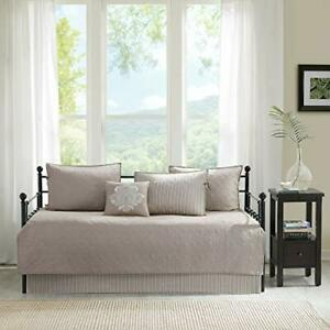 Madison Park Cotton Daybed Cover Set-Double Sided Quilting Classic Cottage (570)