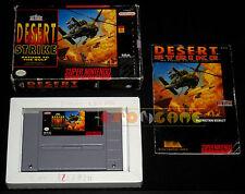 DESERT STRIKE Super Nintendo Snes Versione NTSC Americana ○○○○○ COMPLETO