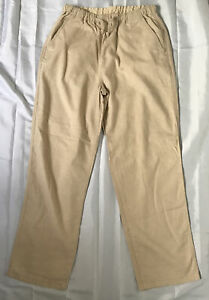 Mens Schott Nyc Linen Trousers Size W32 L29