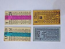 4 x Pre-decimal Morecambe & Heysham Corporation Transport Bus Tickets.