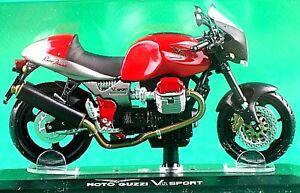 Moto Guzzi, V11 Sport, 1:24 Scale Model, In Display Case, By Starline Models