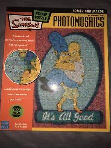 The Simpsons Photomosanics Jigsaw Puzzle ( 2005, Blue Opal ) - FREE & FAST POST