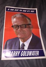 Huge Rare  Barry Goldwater 1964 campaign Flyer Newspaper Insert  full color