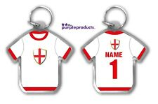 2018 World Cup Personalised Football Team Country Shirt Supporters Keyring