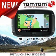 TomTom Rider 550 World Motorrad GPS Navi │ Lifetime Weltkarten + Geschwindigkeitskameras