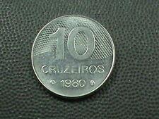 BRAZIL    10  Cruzeiros   1980   BRILLIANT  UNCIRCULATED