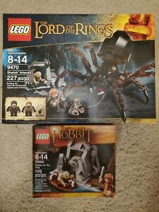 LEGO Lord of the Rings lot Shelob Attacks 9470 Riddles for the Ring 79000 new