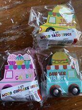 Target Dollar Spot Bullseye Toy Wood Wooden Food Trucks Taco Burger Cupcake