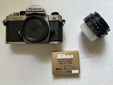 Nikon FM2/T Titanium mit Nikkor 50mm F1.8 und Ersatz-Mattscheibe