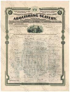 13th AMENDMENT ABOLISHING SLAVERY 1868 Restored Engraving Reprint / Poster 11x14