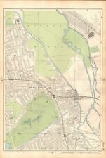 1906 LARGE MAP-BACON 9 INCH - HACKNEY WICK, VICTORIA PARK, OLD FORD