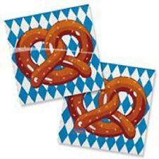 Oktoberfest Wiesn Deko Party Motiv Servietten Brezen Tischdeko 25 x 25 cm