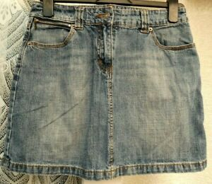 "( Ref 5770 ) Dorothy Perkins - Size 10 W 30"" - Blue Denim A-line Summer Skirt"