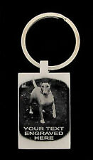 ENGLISH BULL TERRIER PHOTO / TEXT ENGRAVED KEY RING UK