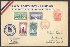 INTERESSANTE BUSTA F.D.C. 1941 JUGOSLAVIA PRO LEGA SLOVENI COMBATTENTI ANNULLO