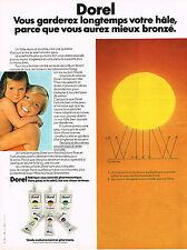 PUBLICITE  1973   DOREL  cosmétiques solaires