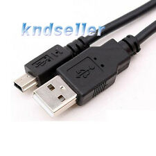 2 PCS 1m 3ft USB 2.0 A to Mini 5Pin Cable 5p B High quality data Sony LC